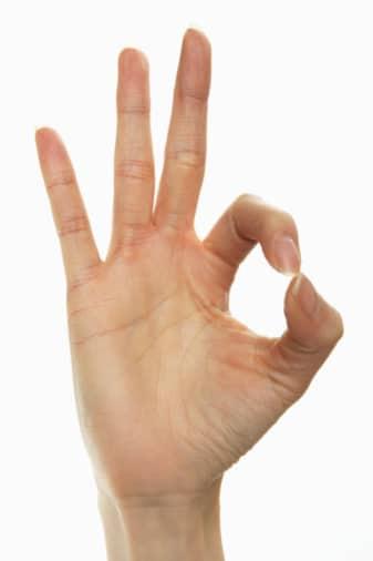 Risultati immagini per ok con le dita