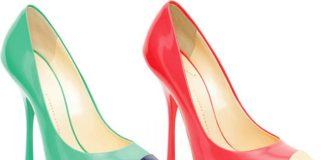 scarpe decolletes bicolor
