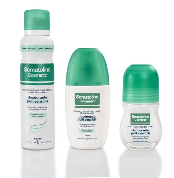 Deodoranti Somatoline per pelli sensibili