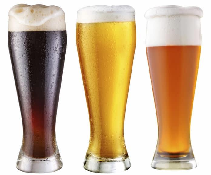 birra chiara e scura