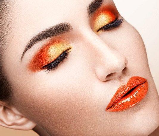 make up orange arancione