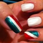 nail art bandiera italiana