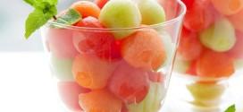 Aspic e brioche con melone e anguria