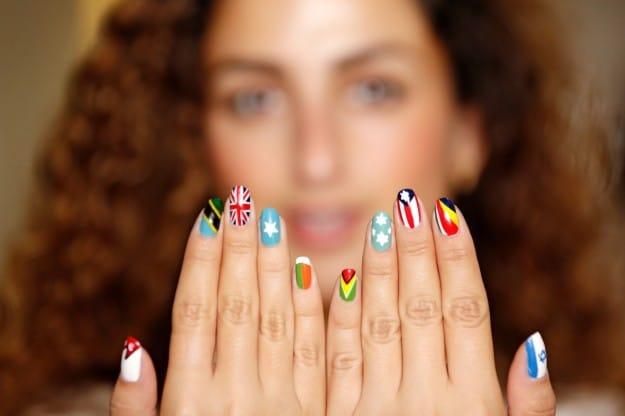 nail art bandiere