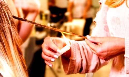 velaterapia bruciare capelli