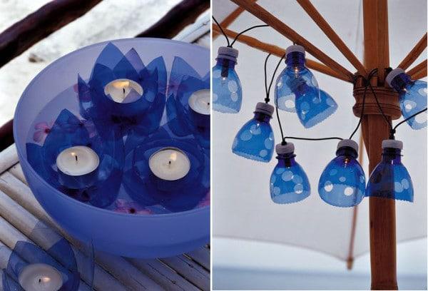 lampada con bottiglia di plastica