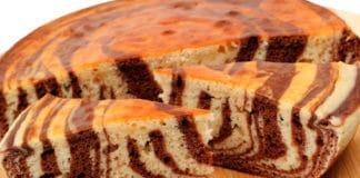 Torta-zebrata