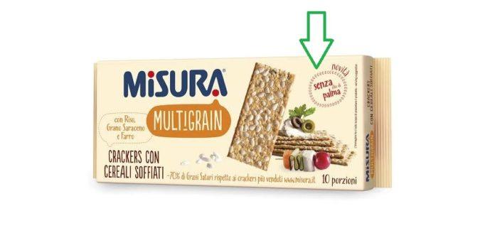prodotti misura senza olio di palma
