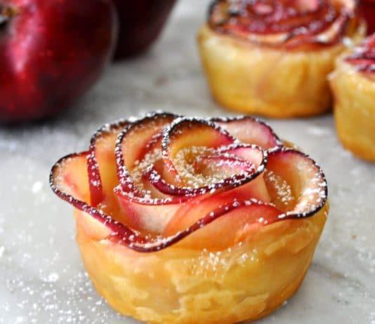 rose di mele e pasta sfoglia