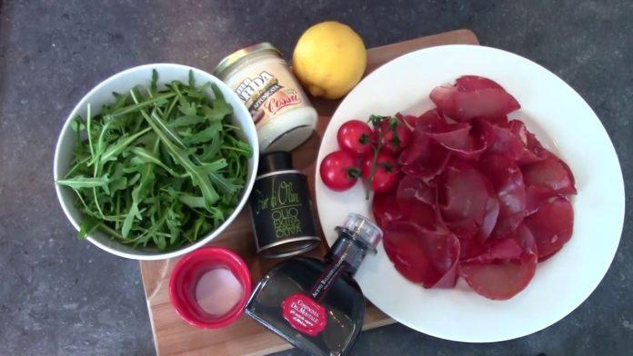 insalata bresaola e asiago