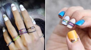unghie a braccialetto