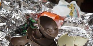 riciclare uova cioccolato