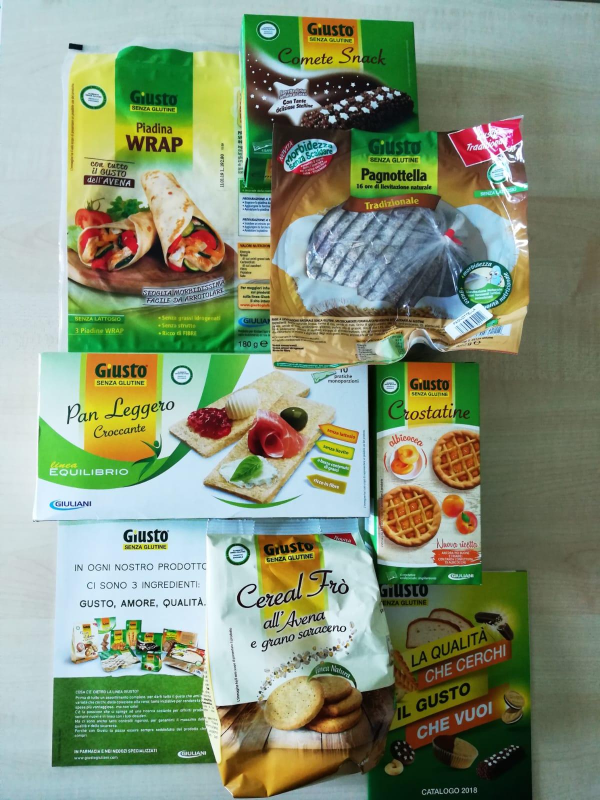 prodotti senza glutine giuliani