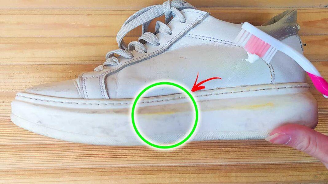 scarpe-bianche-ingiallite