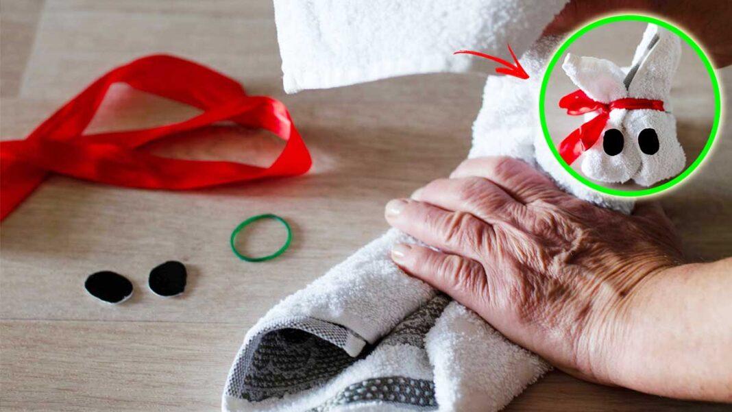 coniglietto-pasqua-asciugamano